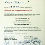 Foto Goldmund Abschluss-Zertifikat für Rainer Teichmann
