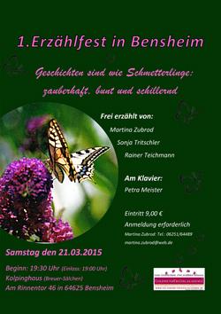 Geschichten sind wie Schmetterlinge - Bensheim