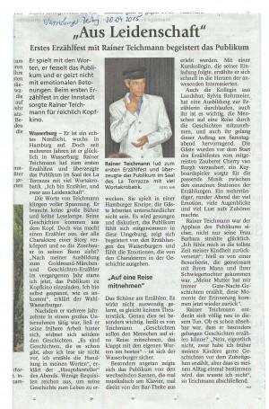 Aus Leidenschaft - Pressebericht aus der Wasserburger Zeitung