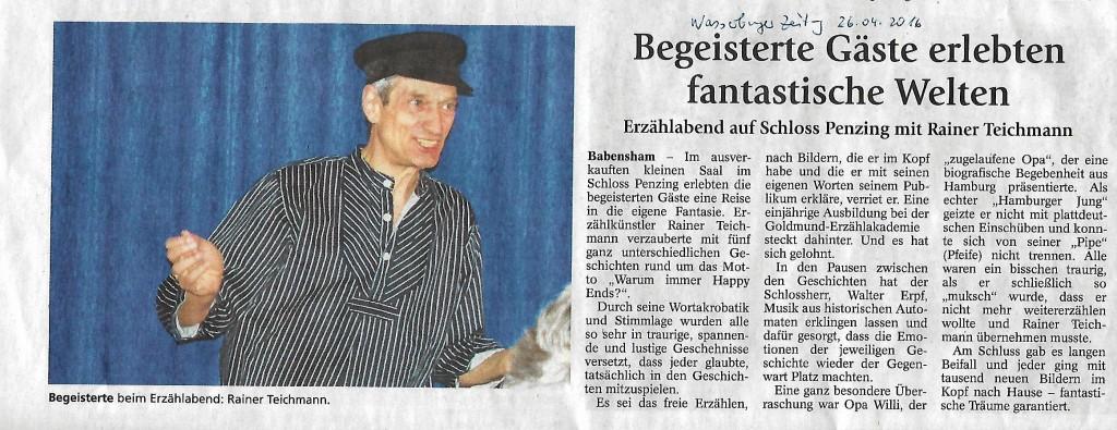 Rainer Teichmann LebensSterne eigenes Erzählfest