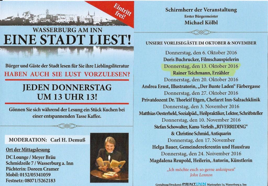 Lebenssterne Erzähler Rainer Teichmann aus Wasserburg erzählt bei Wasserburg liest