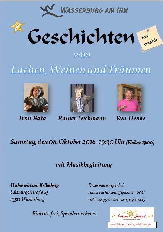 Rainer Teichmann, Wasserburg, Lebenssterne, Erzählabend am 08.10.2016