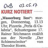 """""""Wasserburg liest"""" am 04.05.2017"""