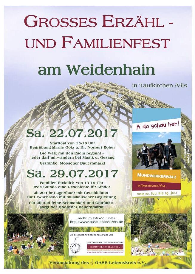 Erzählkünstler Rainer Teichmann aus Wasserburg, Lebenssterne auf der Walz in Taufkirchen/Vils