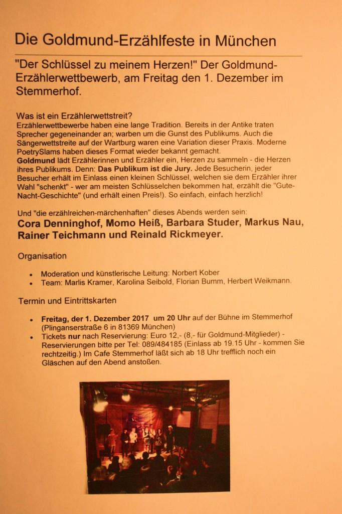 Rainer Teichmann aus Wasserburg beim Goldmund-Erzählerfest im Stemmerhof